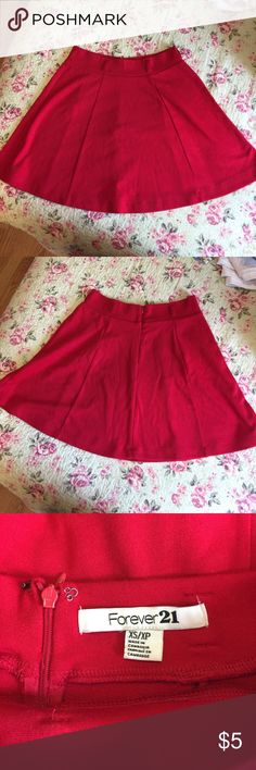 Oh my cuteness! Red mini skirt, size s Oh my cuteness! Red mini skirt, size s Forever 21 Bottoms Skirts