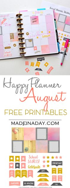 August FREE Printable Planner Stickers