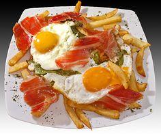Huevos Rotos con Ibérico