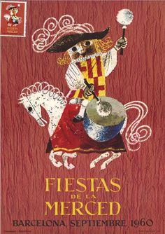 Delcampe – La plus grande marketplace pour les collectionneurs Spanish Festivals, Catholic Feast Days, Spanish Posters, Barcelona, Las Mercedes, Retro Images, Exhibition Poster, Festival Posters, Character Design References