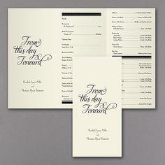 From This Day Forward Slimline Wedding Program - Ecru Ivory http://partyblock.carlsoncraft.com/Wedding/Programs/3215-DDP31819EC-From-This-Day-Forward-Slimline-Program--Ecru.pro