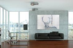 Öl Gemälde 'Herr der Hirsche' 180x120cm