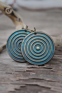 Große Runde Ohrringe Böhmische Ohrringe von Lelandjewelry auf Etsy