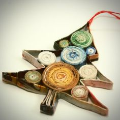 West Elm Coiled Paper Ornament Knock Off