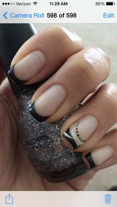 Black French Nail Design