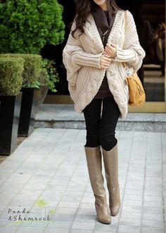 warm spring/women sweater/wrap sweater/warm/wool/loose on Etsy, $69.00