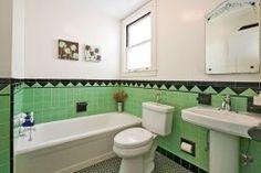 Vintage bathroom tile, San Francisco