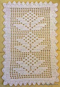 Resultado de imagem para graficos de tapetes em croche retangular