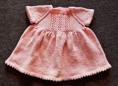 Cuddles DK Little Girl's Dress...complimentary pattern from Crystal Palace Yarns...a lovely classic