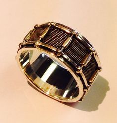 Black Antique Snare Drum Ring by MarinelliCustomJewel on Etsy