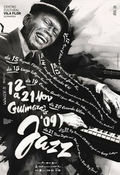 "iMG75's BLOG :: Poster Design ""Guimarães Jazz 2009 event"" Great Typography Portfolio."