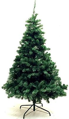 Xmas Finest 6′ Feet Super Premium Artificial Christmas Pine Tree With Solid Metal Legs – Fullest (1000 Tips) Six Foot Tall Design