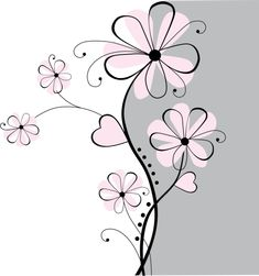 Fantasy Flowers 3 Paint-by-Number Mural Doodle Drawings, Doodle Art, Wall Drawing, Daisy Drawing, Michaels Craft, Giant Flowers, Flower Doodles, Paint By Number, Paint Designs