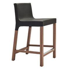 Blu Dot Knicker Stool | Wayfair (Padded, $299) Seat height: 25.5. Back height: 35