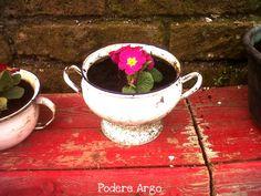 Una vecchia zuppiera diventa un vaso, #reuse