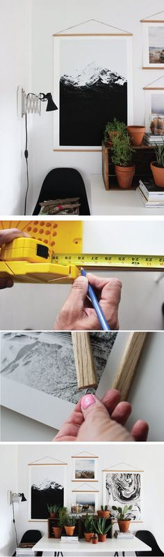 Easy DIY Dowel Rod Frames