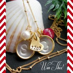 {Giveaway}: Made by Sam! Click here for a chance to win this personalized necklace: http://www.theperfectpalette.com/2012/11/sponsor-introduction-giveaway-made-by.html#