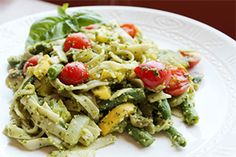 McDougall Newsletter: August 2013 - Featured Recipes-trying it all! Mcdougall Diet, Mcdougall Recipes, Gourmet Recipes, Whole Food Recipes, Diet Recipes, Healthy Recipes, Vegan Pasta, Pesto Pasta, Starch Foods