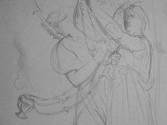 CHASSERIAU Théodore,1843 - Ste Marie l'Egyptienne, Assomption, Etude pour l'Eglise St-Merri(2) - drawing - Détail 04