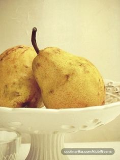 pears in a footed compote....