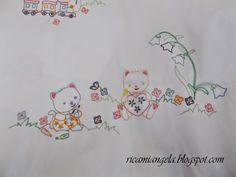 Copertina e lenzuolino con Hello Kitty   Ricami&Co.