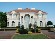 European Villa Style Waterfront Home For In Virginia Beach Listing Offered By Berkshire Hathaway Hs