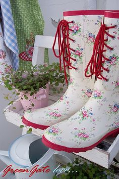 "Greengate Boots! ""I am in desperate need of some new books for the coming gardening season. These are too cute to resist!"""