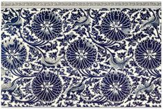 A blue-and-white china cistern. From 'Examples of Chinese Ornament', by Owen Jones, London, 1867 Chinese Ornament, Chinese Flowers, Cc Images, Mulberry Tree, Blue And White China, Old Books, Vintage Pictures, Chinese Art, Floral Design