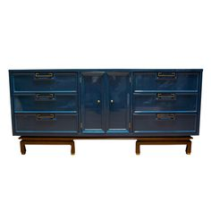 painted dresser, blue lacquer, traditional painted furniture, oriental cabinet
