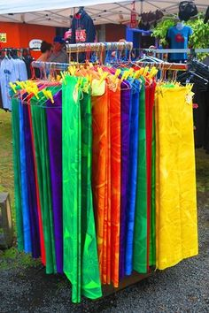 Stuck without a sarong? No big deal! Head over to the Saturday market in Rarotonga and stock up on a supply for a year!