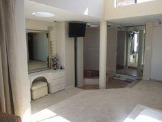 Master bedroom with sunken bath