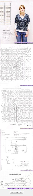 Crochet open pattern pullover - https://mirincondecrochet.wordpress.com/2012/06/26/esta-tonica-es-muyyyyyyyyyyyyyy-linda/ - created via http://pinthemall.net