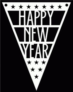 Happy New Year Pennant by Bird