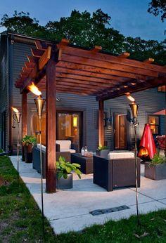 25 Inspirational Ideas to Create a Luxury Resort Style Backyard, gazebo Small Outdoor Patios, Outdoor Patio Designs, Small Pergola, Modern Pergola, Small Backyard Patio, Backyard Pergola, Pergola Shade, Pergola Designs, Diy Patio