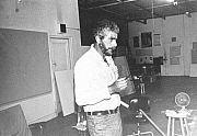 The artist in his studio 1970s