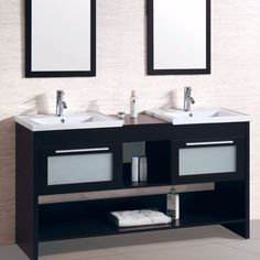 Legion Furniture WT9118-R Double Vanity With Two Mirrors