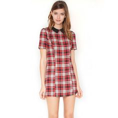Peter plaid dress ($46) found on Polyvore