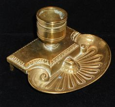 Vintage Brass Ink Well