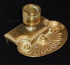 Vintage Brass Ink Well Writer Editor Desk by VintageMaryEllen