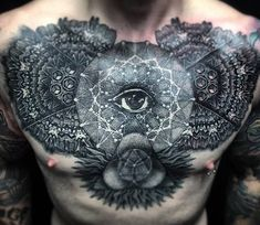 Chest tattoo by Rob Hoskins