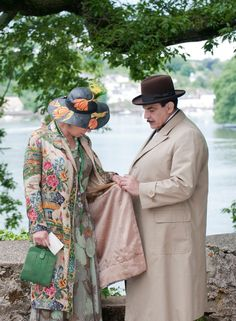 Poirot with Zoë Wanamaker as Ariadne in Dead Man's Folly