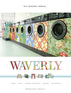 Waverly prints to decorate your washing machine.