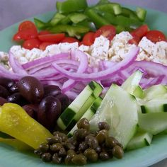 Craving Comfort: It's All Greek to Me.. (Greek Salad)