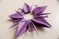 100 Small Origami Cranes  Violet by Yeestore on Etsy, $20.00
