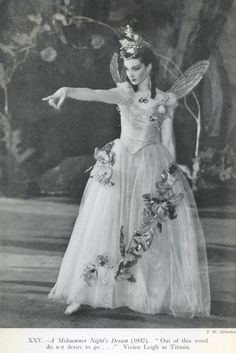 """poorshadowsofelysium: """" Vivien Leigh as Titania in A Midsummer Night's Dream at the Old Vic Theatre in London. """""""