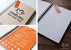 Cuadernos personalizados, regalos empresariales, Natura
