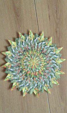 Mandala tropic fruit with people