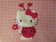 Large  Kitty Ladybug Iron On Applique Made In The USA. $9.95, via Etsy.
