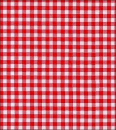 Gingham - Red Oilcloth Fabric, $150 for 10 tablecloths--$5 cheaper at fabric.com