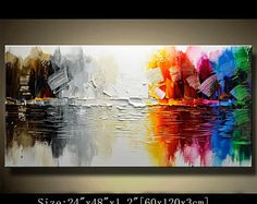 Abstract Wall Painting, expressionism Textured Painting,Impasto Landscape Painting  ,Palette Knife Painting on Canvas by Chen 0710
